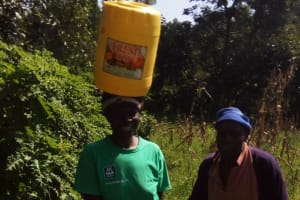 The Water Project: Bukhunyilu Community, Solomon Wangula Spring -  Peris Amakube And Solomon Wangula