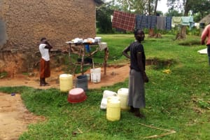 The Water Project: Ejinja Community, Anekha Spring -  Mary At Her Home