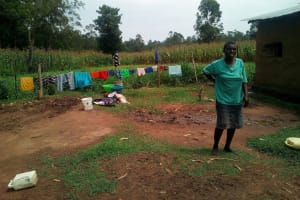 The Water Project: Shihingo Community, Mulambala Spring -  Mary At Her Homestead