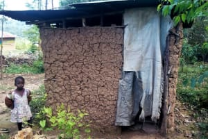 The Water Project: Maganyi Community, Bebei Spring -  Latrine