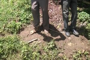 The Water Project: Mwichina Community, Mwichina Spring -  Thomas Abwayo Drinks Water From Mwichina Spring