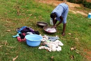 The Water Project: Ejinja Community, Anekha Spring -  Doing Laundry