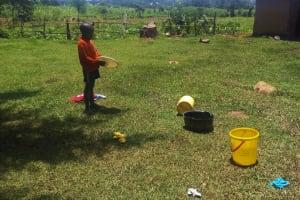 The Water Project: Ataku Community, Ataku Spring -  Child Playing