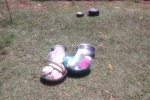 The Water Project: Mwituwa Community, Shikunyi Spring -  Bowls And Utensils