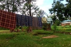 The Water Project: Ejinja Community, Anekha Spring -  Clothesline