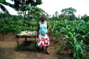 The Water Project: Esembe Community, Chera Spring -  Mrs Chera And Her Dish Rack