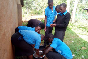 The Water Project: El'longo Secondary School -  Students Helping Prepare Lunch