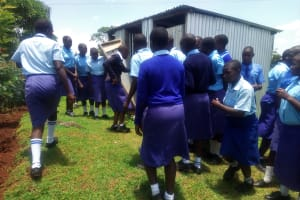 The Water Project: Eshisenye Girls Secondary School -  Rush To The Latrines