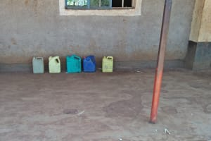 The Water Project: Shitsava Primary School -  Water Containers