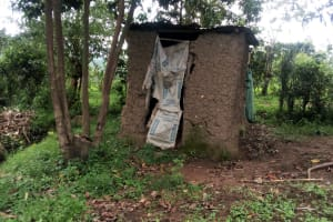 The Water Project: Ejinja Community, Anekha Spring -  Latrine