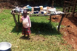The Water Project: Ataku Community, Ataku Spring -  Dish Rack
