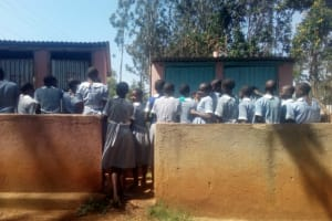 The Water Project: Emmaloba Primary School -  Latrines