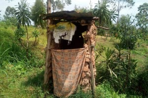 The Water Project: Shihingo Community, Mulambala Spring -  Latrine