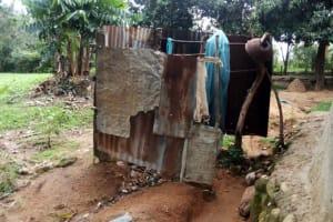 The Water Project: Ejinja Community, Anekha Spring -  Bathing Shelter