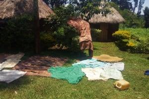 The Water Project: Ataku Community, Ataku Spring -  Clothes Drying