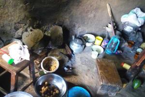The Water Project: Sharambatsa Community, Mihako Spring -  Inside Kitchen