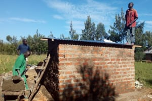 The Water Project: Maganyi Primary School -  Latrine Construction