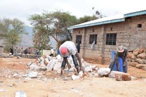 The Water Project: Kyanzasu Secondary School -  Tank Construction