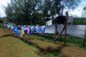 The Water Project: Eshisenye Girls Secondary School -  Clotheslines