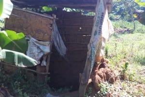 The Water Project: Bukhunyilu Community, Solomon Wangula Spring -  Latrine