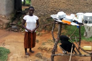 The Water Project: Ejinja Community, Anekha Spring -  Dish Rack