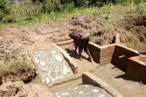The Water Project: Mulundu Community, Fanice Mwango Spring -  Spring Construction