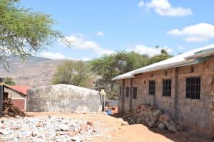 The Water Project: Kyanzasu Secondary School -  Guttering