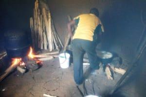 The Water Project: Eshisenye Girls Secondary School -  Smoky School Kitchen