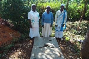 The Water Project: Irenji Community, Shianda Spring -  Sanitation Platform