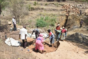 The Water Project: Kithumba Community -  Trenching