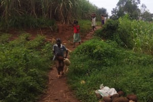 The Water Project: Shitoto Community, William Manga Spring -  Spring Construction