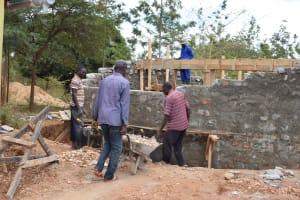 The Water Project: Kyanzasu Primary School -  Tank Construction