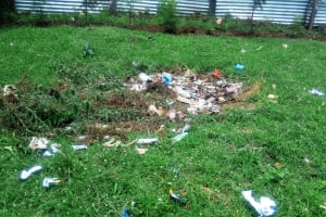 The Water Project: Eshisenye Girls Secondary School -  Garbage Site