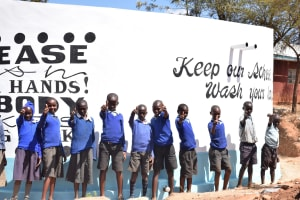 The Water Project: Kyanzasu Primary School -  Finished Tank
