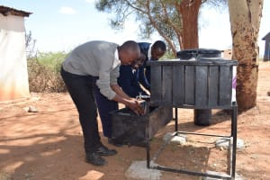 The Water Project: Kyanzasu Secondary School -  Hand Washing Stations