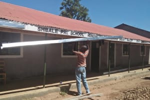 The Water Project: Shibale Primary School -  Gutter Installation
