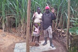 The Water Project: Shitoto Community, William Manga Spring -  Finished Sanitation Platform