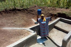 The Water Project: Mulundu Community, Fanice Mwango Spring -  Clean Water
