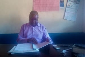 The Water Project: Emmaloba Primary School -  Headteacher In His Office