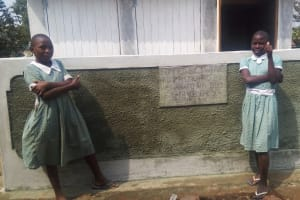 The Water Project: Shibale Primary School -  Finished Latrines