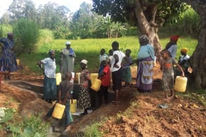 The Water Project: Shitoto Community, William Manga Spring -  Clean Water