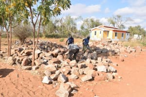 The Water Project: Matheani Secondary School -  Tank Construction