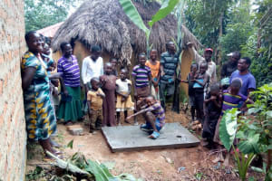 The Water Project: Shikoti Community, Amboka Spring -  Sanitation Platform