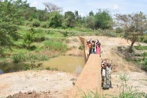 The Water Project: Kithumba Community -  Finished Sand Dam