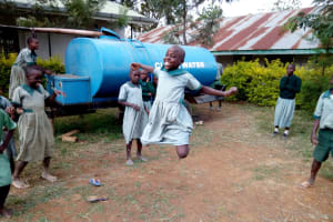 The Water Project: Madivini Primary School -  Water Tanker Open For Rainwater