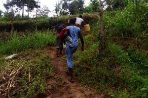 The Water Project: Ejinja Community, Anekha Spring -  Path To The Spring