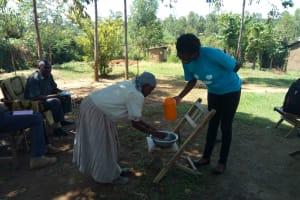 The Water Project: Mulundu Community, Fanice Mwango Spring -  Training