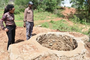 The Water Project: Karuli Community C -  Lining Progress
