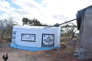 The Water Project: Kithaasyu Secondary School -  Finished Tank