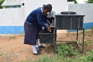 The Water Project: Kithaasyu Secondary School -  Hand Washing Stations